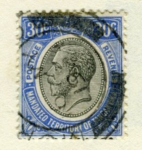 TANGANYIKA; 1927 early GV issue fine used 30c. value