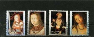 ANTIGUA & BARBUDA 2003 PAINTINGS BY LUCAS CRANACH SET OF 4 STAMPS MNH