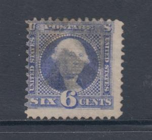 US Sc 115 used 1869 ultra Washington G Grill, Scarce