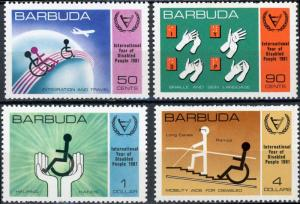 Barbuda MNH 502-5 International Year Of Disabled SCV 2.25