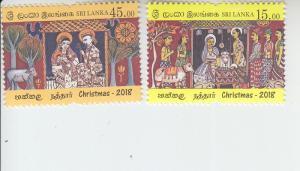 2018 Sri Lanka Christmas (2) (Scott NA) MNH