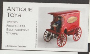 U.S. Scott #3629b-3629d BK291 Antique Toys Car/Train Stamp - Mint NH Booklet