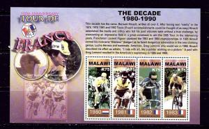 Malawi 723 MNH 2004 Tour de France (Bicycle Race) sheet of 4
