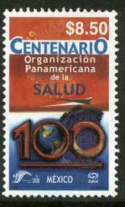 MEXICO 2302, PANAMERICAN HEALTH ORGANIZATION CENTENNIAL. MINT, NH. VF.