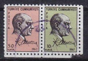 TÜRKEI TURKEY [1967] MiNr 2052+51 ( O/used )