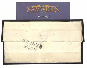 Great Britain Cover 1788 GB *HEREFORD* First Type Mileage Mark{CBP £120+}MS2763