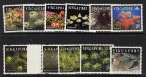 SINGAPORE SG753a/j + 785c 1996-7 REEF LIFE MNH