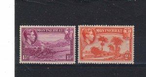 Montserrat 1938-48 1 1/2d & 2d  MLH