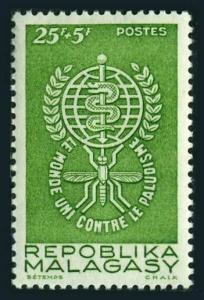 Malagasy B19,MNH.Michel 477. WHO drive to eradicate Malaria.1962.