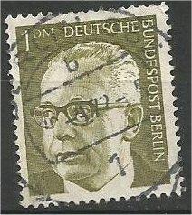 BERLIN, 1970, used 1m Pres Heinemann Scott