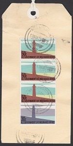 NEW ZEALAND 1987 Govt Life Dept $3.30 Lighthouse franking on parcel tag.....F189