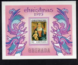 GRENADA #691  1975  CHRISTMAS   MINT  VF NH  O.G  S/S  a