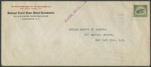 #C2 ON FDC JULY,13,1918 FIRST FLIGHT COVER WITH PF CERT HV9453