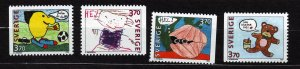 J22886 JLstamps 1995 sweden set mnh #2133-6 drawings