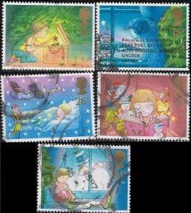 1987 Great Britain  Christmas Memories  SC# 1196-1200