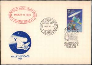 Hungary, First Day Cover, Space