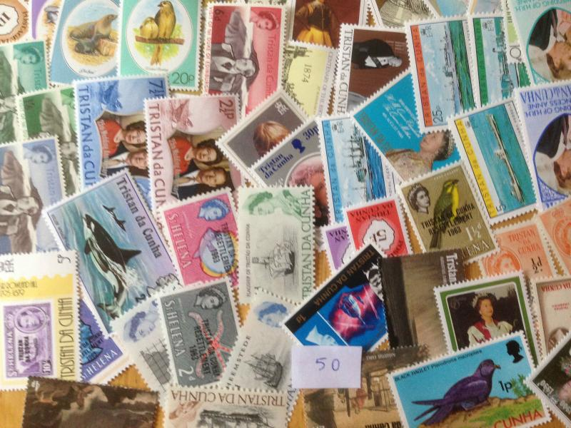 50 Different Tristan da Cunha Stamp Collection