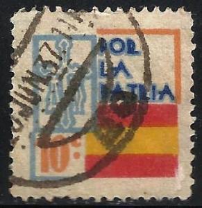 Spain Cinderella Spanish Civil War. Por la patria, 10 cts