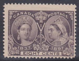 Canada - 1897 8c Dark Violet QV Jubilee #56