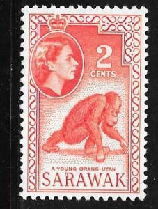 Sarawak 198: 2c Orangutan, MH, F-VF