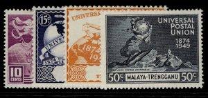 MALAYSIA - Trengganu GVI SG63-66, anniversary of UPU set, NH MINT.