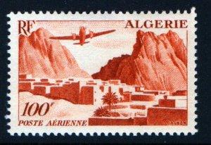 ALGERIA C9  MNH PLANE OVER VILLAGE ISSUE  1949