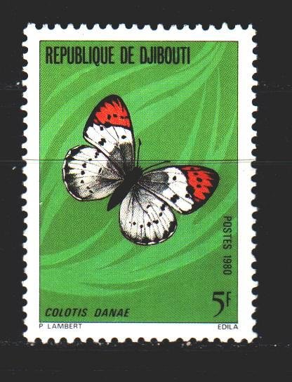Djibouti. 1980. 268 from the series. Butterflies. MNH.