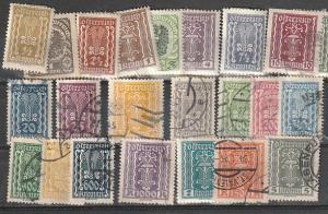 #250-287 Austria Mint & Used Incomplete set #7