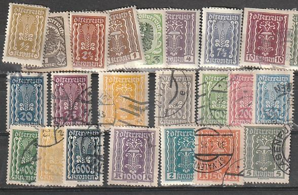 #250-287 Austria Mint & Used Incomplete set #7