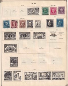 CUBA 5 ALBUM PAGES WITH USA OCC COLLECTION LOT + CURAÇAO 37 STAMPS $$$$$$$