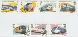 Malagasy Republic 1993 Trains Rail Full Set Mi. 1562-1568 Used 11894