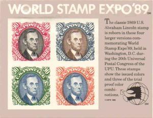 US 2433 - 90¢ World Stamp Expo '89 Unused