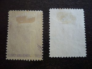 Stamps - Cuba - Scott# 392 - Mint Hinged & Used Set of 2 Stamps