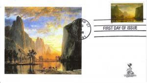 Albert Bierstadt First Day Cover, from Toad Hall Covers!
