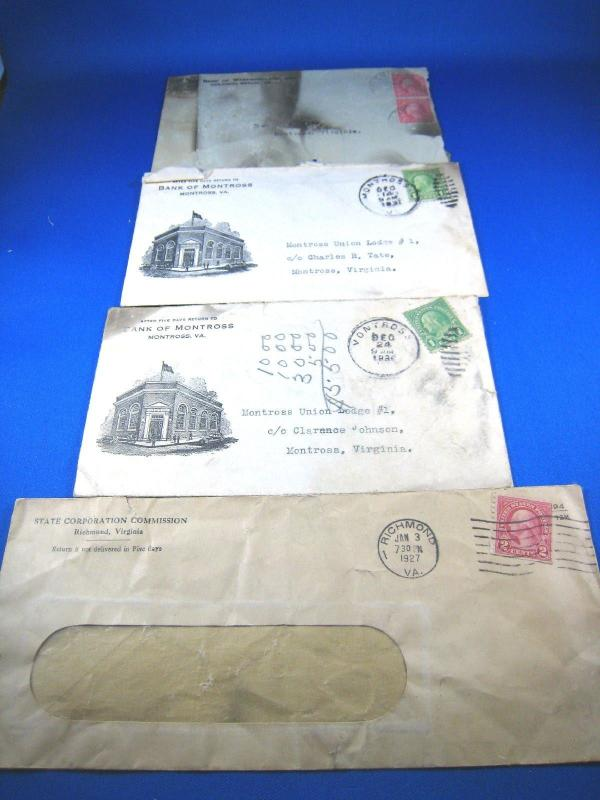 U.S. BANK COVERS - LOT OF 4