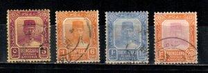 Malaya - Trengganu #26, 27, 29, 31  Used  Scott $6.75