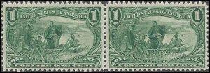285 Mint,OG,NH... Pair... SCV $165.00