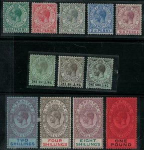 Gibraltar 1912 SC 66-75,71a,71b Mint Set