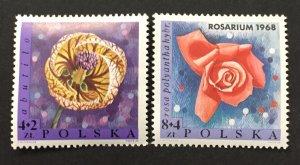 Poland 1968 #B111-2, Flowers, MNH.