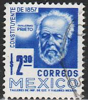 MEXICO 1075, $2.30 1950 Def 8th Issue Fosforescent glazed. USED. F-VF. (966)