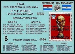 HERRICKSTAMP PARAGUAY Sc.# C462 1978 Soccer Cup S/S