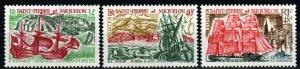 Saint Pierre And Miquelon #393-5  MNH CV $80.00 (X9663)