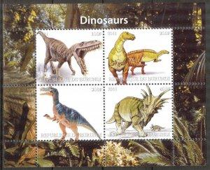 Burundi 2011 Dinosaurs V Sheet MNH** Cinderella !