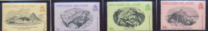 Pitcairn Islands Stamps Scott #184 To 187, Mint Lightly Hinged - Free U.S. Sh...