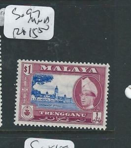 MALAYA TRENGGANU (P0410B) $1.00  SG 97  MNH