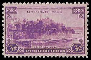 PCBstamps  US # 801 3c Puerto Rico, 1937, MNH, (5)