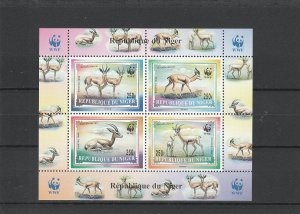 Niger  Scott#  986a  MNH  S/S  (1998  WWF)