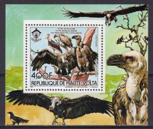 Upper Volta 1984 Mi#Bl.93A Gyps africanus/Scouts/WWF/w logo SS Perforated MNH