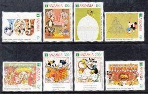 Tanzania 782-789 Disney's MNH VF
