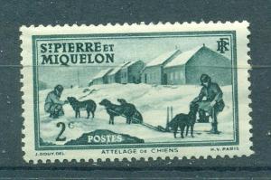 France-St. Pierre & Miquelon sc# 172 (3) mhr cat val $.25